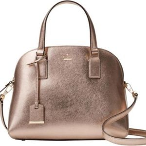Kate Spade Rose Gold Reiley Large Dome Satchel